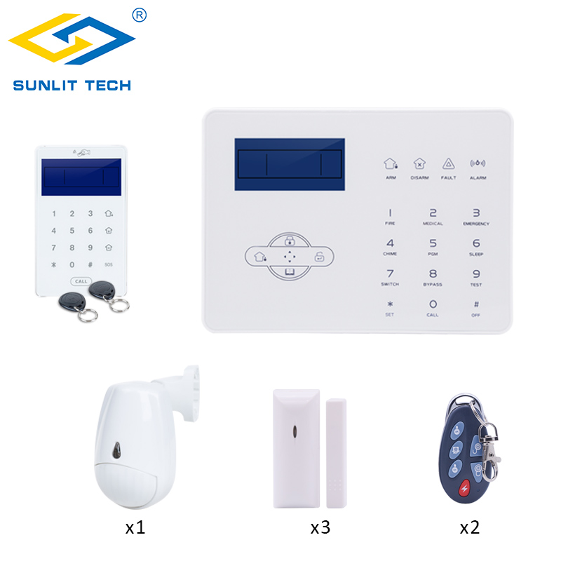 Wireless GSM PSTN Alarm System DIY Kit IOS Android APP Remote Control Home Smart Burglar PIR