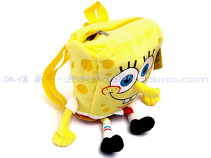 Image 3 - Cute 3D Cartoon SpongeBob Plush Bag Kindergarten Preschool Backpacks Children School Bags for Boys Girls Kids Bag Schoolbag