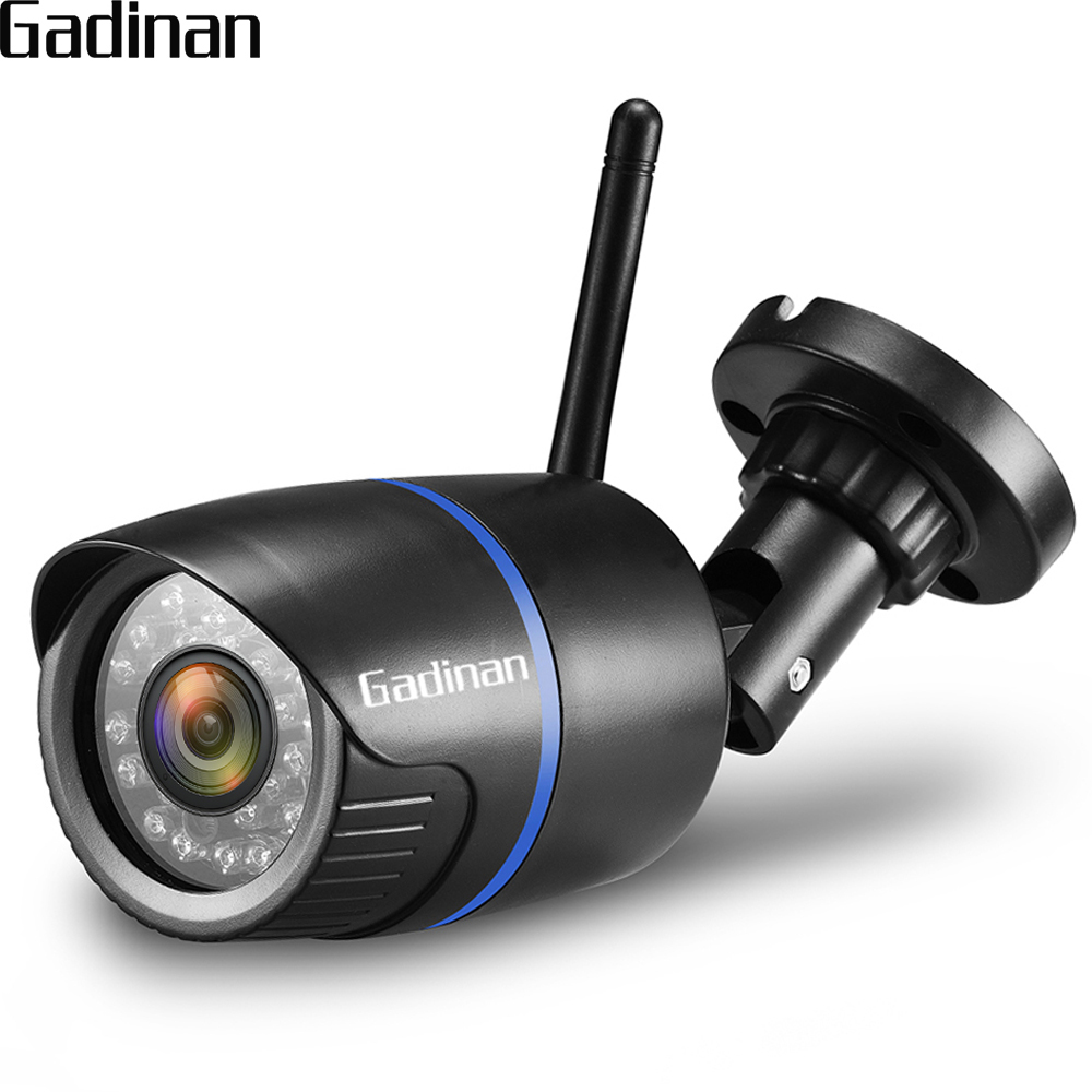 GADINAN CamHi WiFi IP Camera P2P 720P 960P 1080P Security Wired Wireless 2.8mm Wide Angle CCTV Outdoor TF Card Slot Up to 128G
