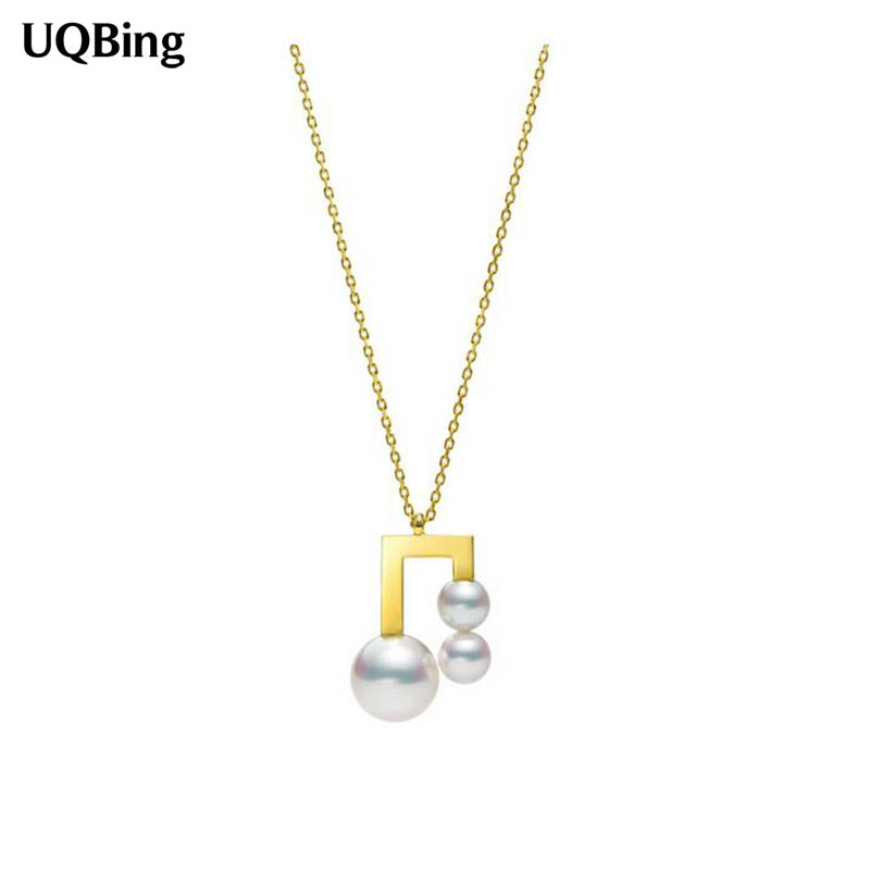 Drop Shipping Gold Color Chain Necklaces Pearl Pendants&Necklaces Jewelry Collar Colar de Plata