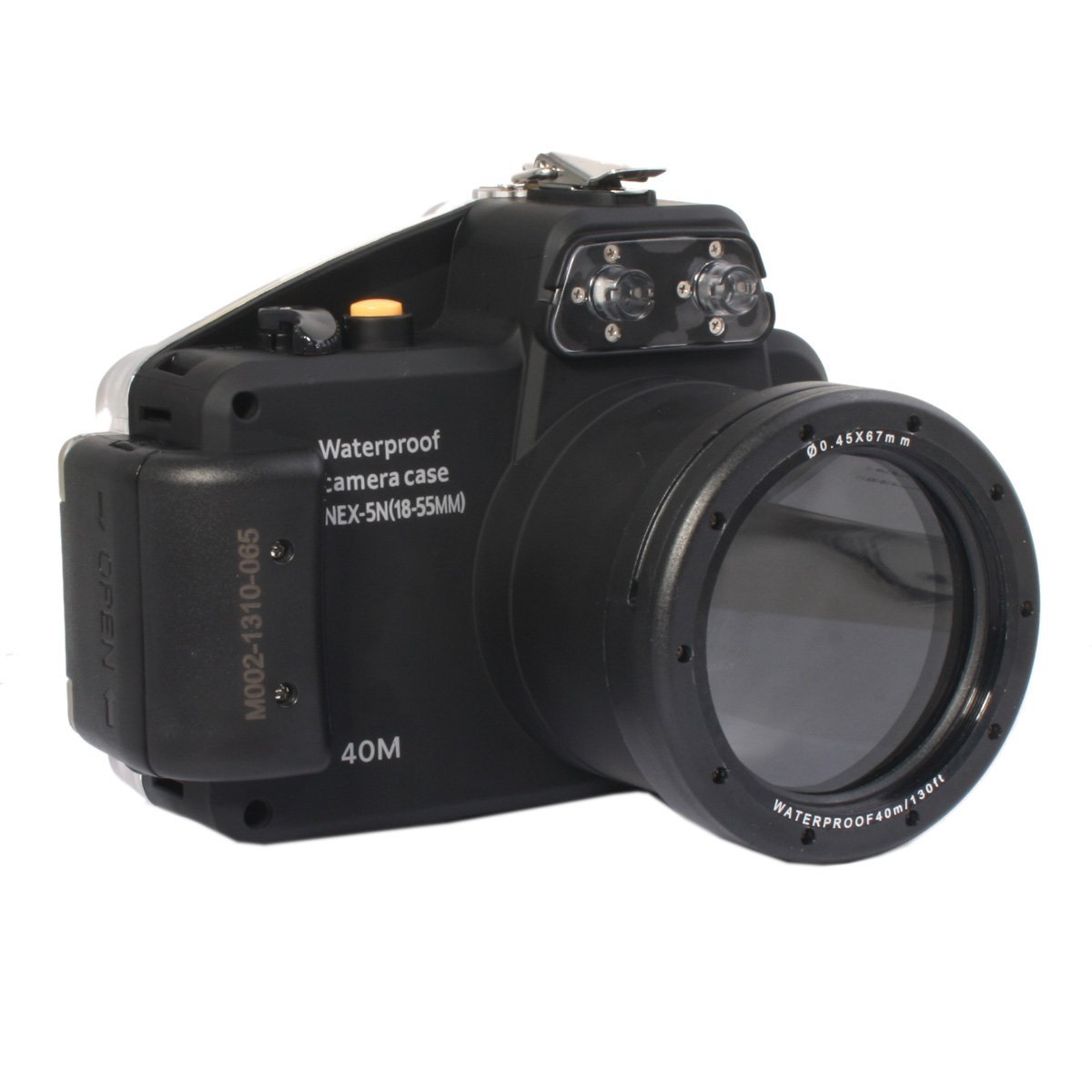 40m/130ft Waterproof Underwater Camera Housing Case for Sony NEX-5N Can Be Used With 18-55mm Lens 65 95 55mm waterproof case