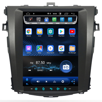 9.7 inch Tesla style Android Car DVD Player Stereo GPS Navigation Headunit For Toyota Corolla 2007-2013 Satnav Multimedia Audio