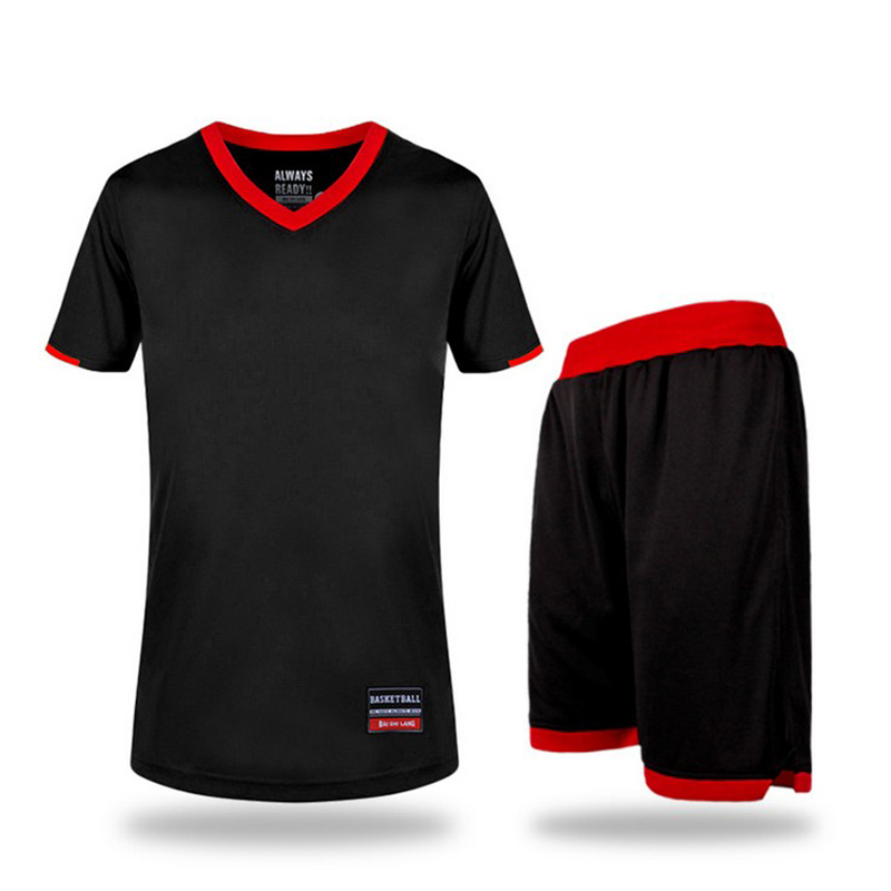 <font><b>Mens</b></font> Basketball Jerseys Pro Basketball Clothes <font><b>Suits</b></font> Uniforms Sets Breathable Basketball Training Shirts+<font><b>Shorts</b></font> Plus Size 6XL image