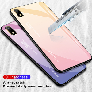 Image 2 - For Honor 8S 8 S Case Gradient Tempered Glass Hard Case TPU Silicone Frame Hard Glass Back Cover for Huawei Y5 2019 Shockproof