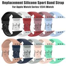3D Stereoscopic Texture Silicone Band Wristband Sports Strap for Apple Watch Series 1234 iWatch 38/42MM 40/44MM