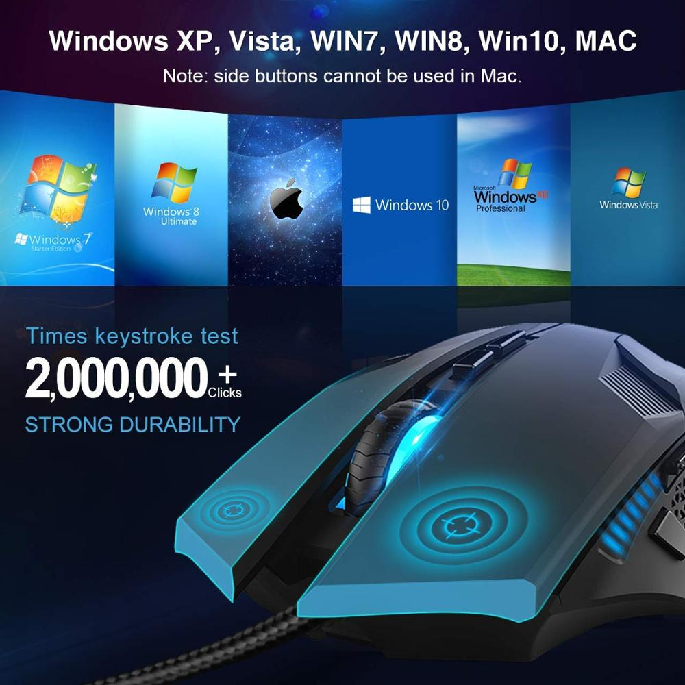 Image 2 - TeckNet Wired Gaming Mouse Ergonomic Mice 6 Button Optical Computer Mouse 2000dpi USB Wired PC Mouse for Computer Laptop PC-in Mice from Computer & Office