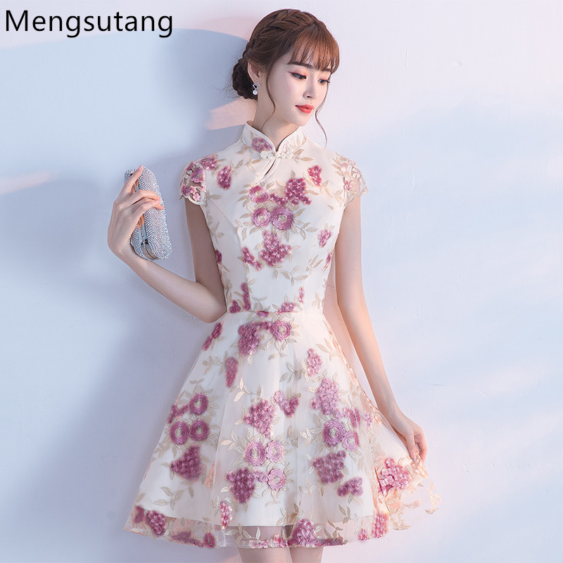 Robe De Soiree 2019 Summer Chinese Style A-Line Evening Dress Vestido De Festa Party Dresses Prom Dresses Tailor Custom Made