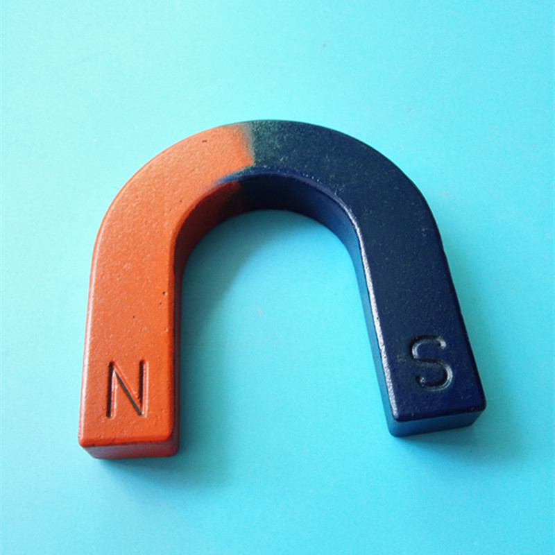 2pcs Magnetic Teaching Tool Magnet U type magnet 80x85x15 mm Portable Small Toy magnet / office magnet Pole Detection