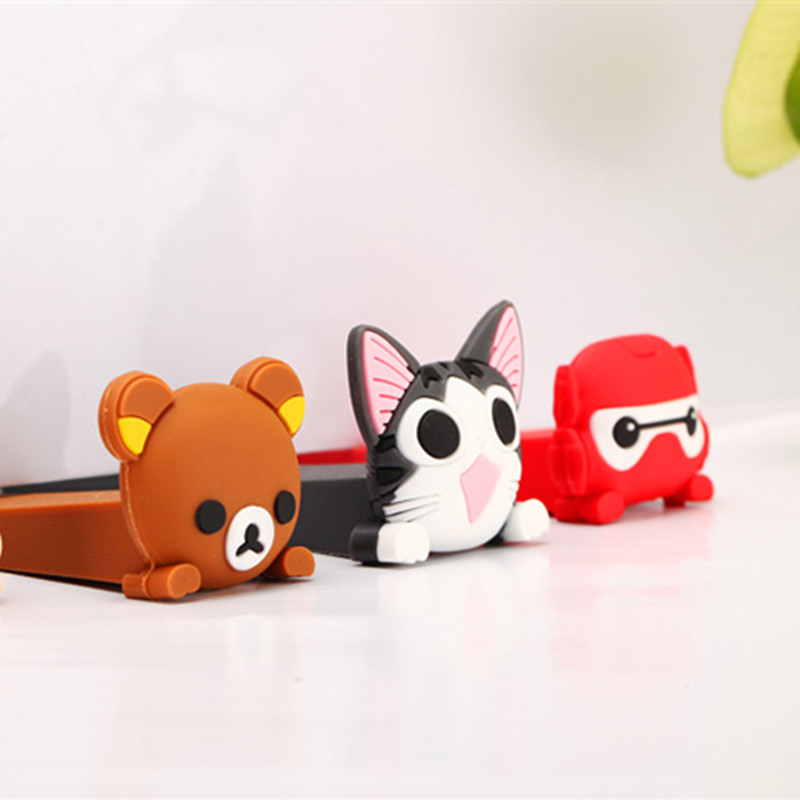 2pc Baby Silicone Cartoon Animal Door Stopper Children Kids Jammers Holder Lock Safety Protect Jammer Finger Corner Guards