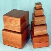 Гнездо Коробки деревянный Коробки семь случаев Магия фокусов реквизит