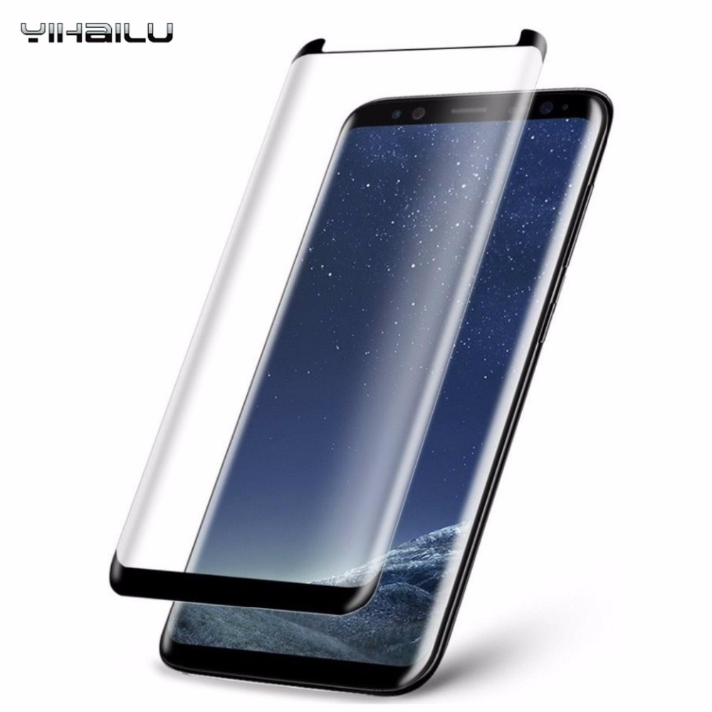 Caso Amichevole 3D bordo Curvo Protezione Dello Schermo Per Samsung Galaxy S8 Copertura Completa Temperato Film Glass Per Samsung S8 Plus S8 +