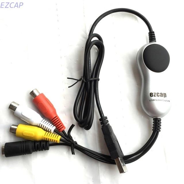 Конвертер RCA USB 2,0 для ПК, конвертер аналогового видео с vhs,v8,Hi8, работает на Windows 7, 8, 10, 2017