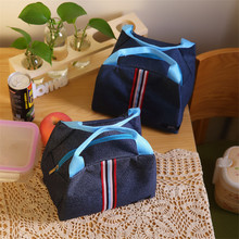 Fashion Jean Lunch Bags Brand Food Fresh Keep Cooler Bag Waterproof Picnic Travel Storage Icepack Thermal Insulated