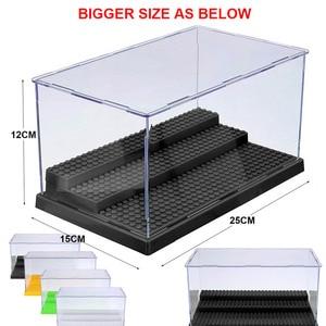 Image 4 - 2019 uyumlu akrilik plastik aksiyon figürleri vitrin kutusu toz geçirmez ekran kutusu loz yapı taşları tuğla oyuncaklar