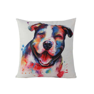 ใหม่สไตล์โมเดิร์นภาพวาดสีน้ำมันเบาะผ้าฝ้ายผ้าลินินสัตว์เลี้ยงสุนัขบ้านตกแต่งหมอนปลอกหมอนสำหรับโซฟารถ