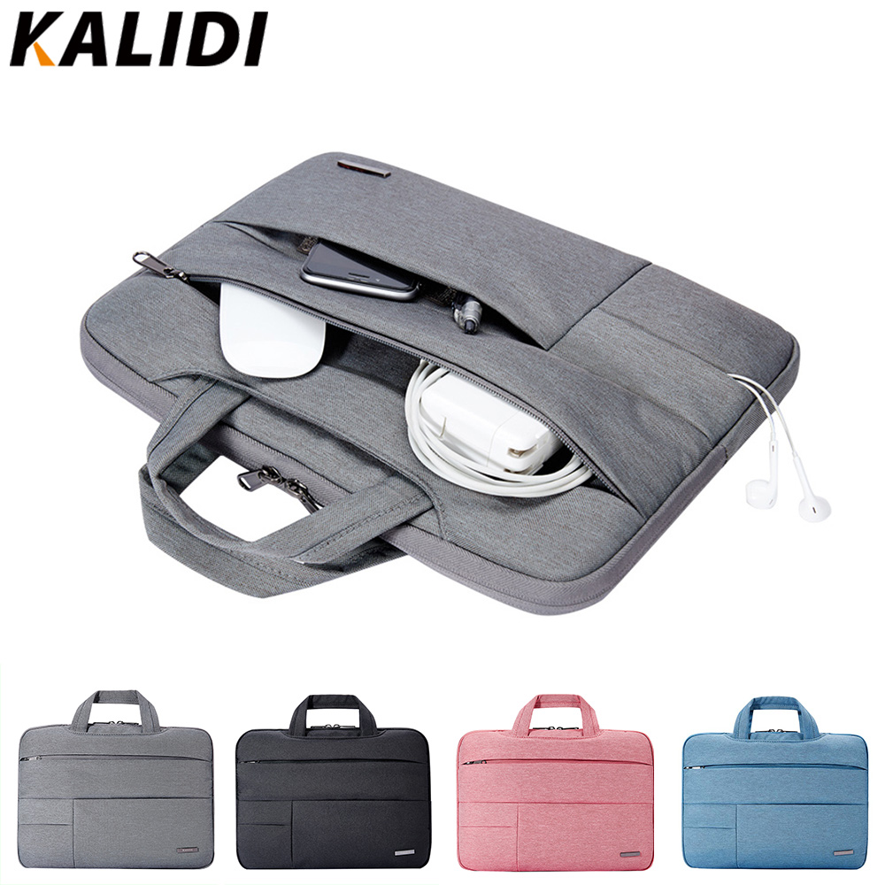 KALIDI Laptop manga bolsa 13,3 14 15 15,6 pulgadas Notebook Bag para Macbook Air Pro 11 13 15 Dell Asus HP Acer manga para hombres mujeres