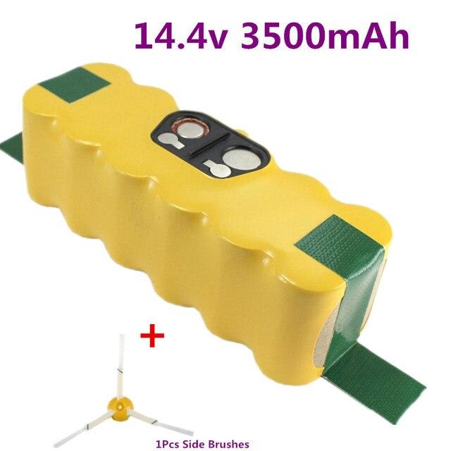 3500mah quality Battery Pack for iRobot Roomba 560 530 510 562 550 570 500 581 610 780 532 770 760 battery +1pcs Side Brushes