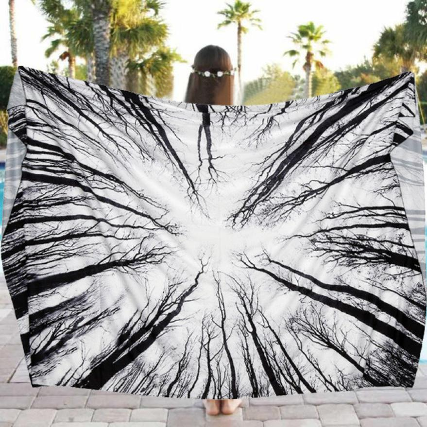 Beach Pool Home Shower Towel Blanket Table Cloth Yoga Mat Diameter 150cm Dec 29