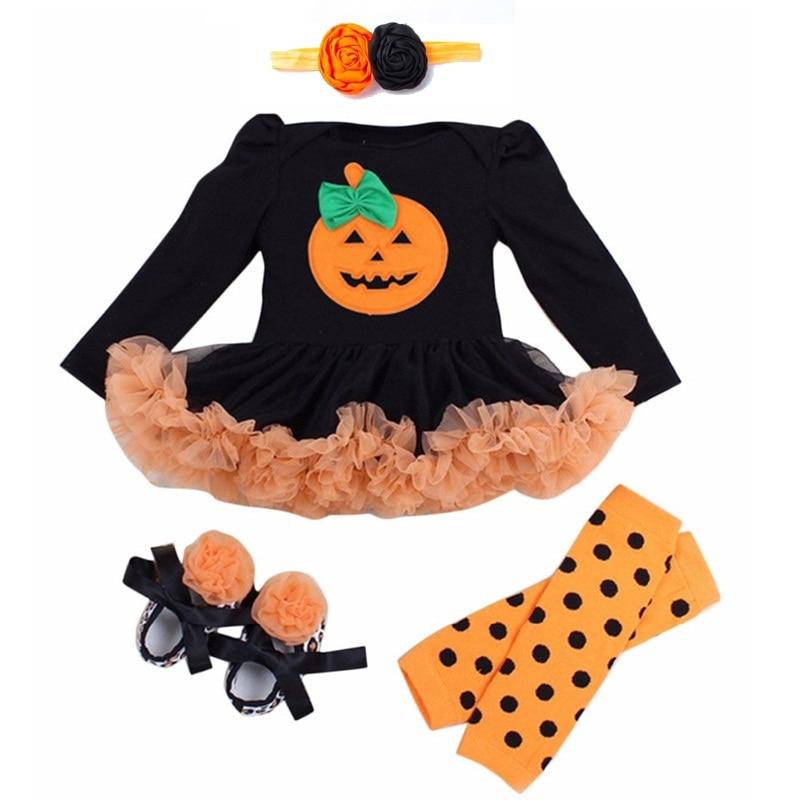 Hot sale Halloween Baby Costumes Baby Girls Boys Rompers Newborn Halloween Pumpkin Jumpsuits Dress Cartoon Printed Baby Rompers pumpkin halloween plus size spaghetti strap dress
