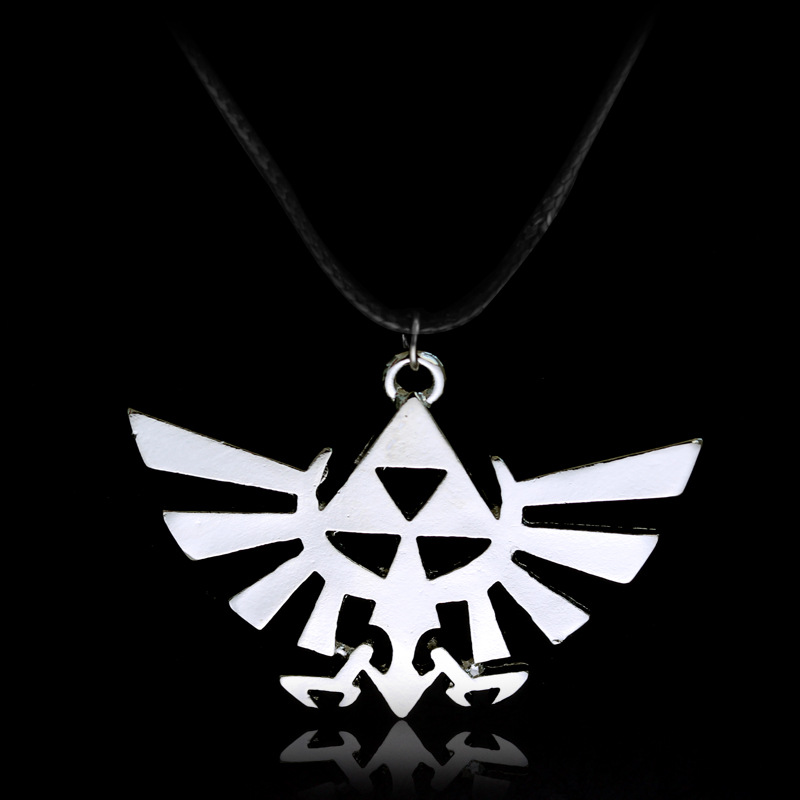 Legend of Zelda Triforce Pebdant Necklace Zelda Weapon Logo Necklace Halloween Christmas New Year Gift Anime Collectibles