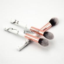 100pcs Professional Women Marble Brushes Flame Makeup Tool Soft Makeup Highlighter Brush Cosmetics Foundation Powder Brush F3167