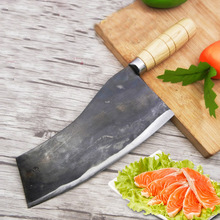 Linag DaHandmande Forged Mulberry Knife Shell Steel Chinese Style Chef Kitchen Cut Meat Vegetable Slicing Knives