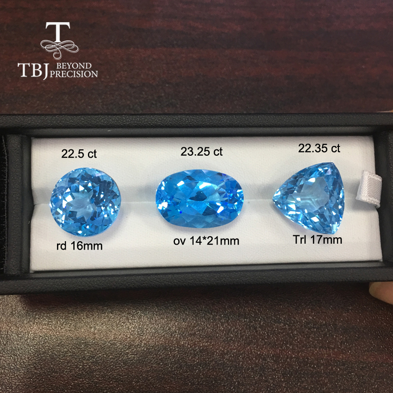 Natural Brazil sky blue topaz free size 20ct up real gemstone for diy gold and silver jewelry rosalie natural loose gemstone brazil real sky blue topaz oval 6 8mm 3 pc 4 5ct in one lot gemstone for silver jewelry mounting