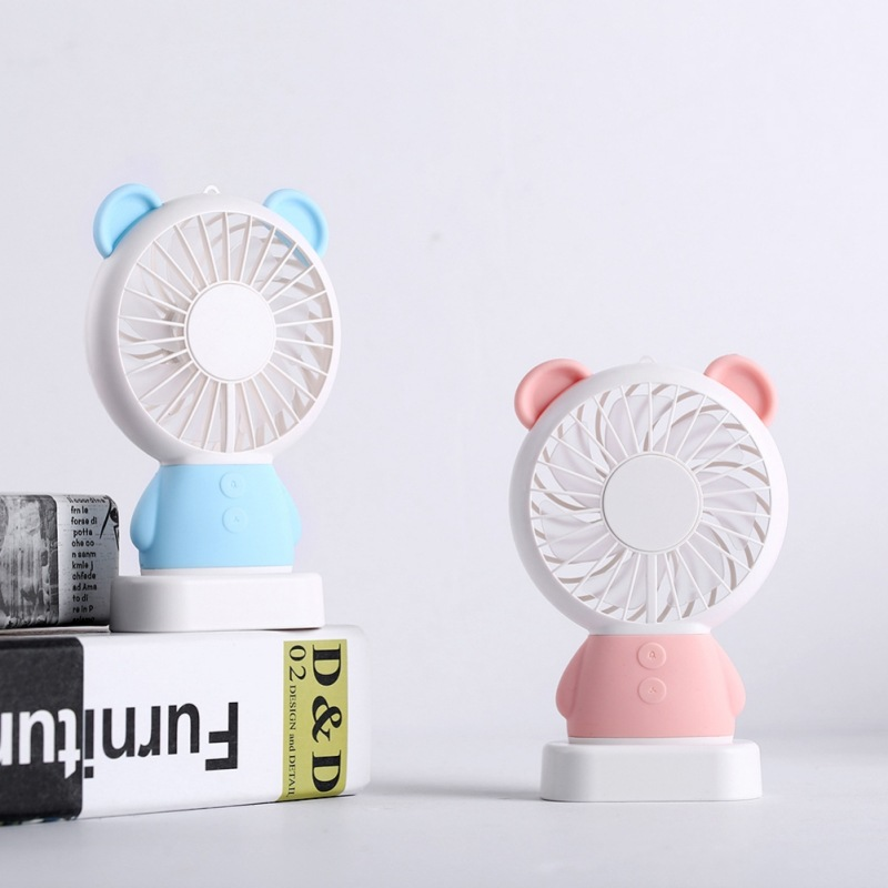 Small Air Conditioning Appliances Home Appliances Portable Handheld Fan Summer Home Small Fan Cute Cartoon Bear Usb Charging Fan Study Table Lamp Fan Discounts Price