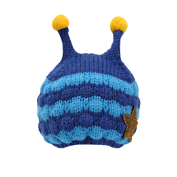 இBebé hecho a mano Cartoon Bee patrón crochet sombrero con orejeras ...