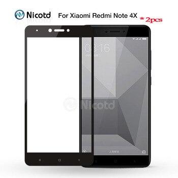 2 sztuka dla Redmi Note 4 wersja globalna nikotyna kolorowe 2.5D pełna hartowana obudowa szkło dla Xiaomi Redmi Note 4X Screen Protector