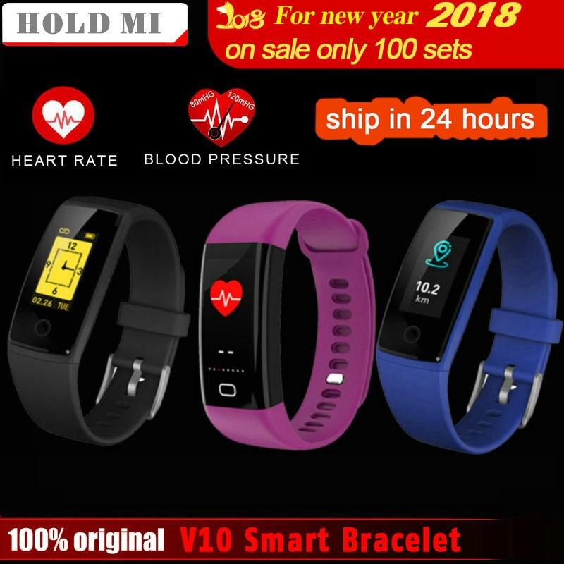 Tenir Mi V10 Intelligent Bracelet de Remise En Forme Bracelet 0.96 OLED Moniteur de Fréquence Cardiaque bande À Puce Acitivity Tracker Podomètre Sang Pression