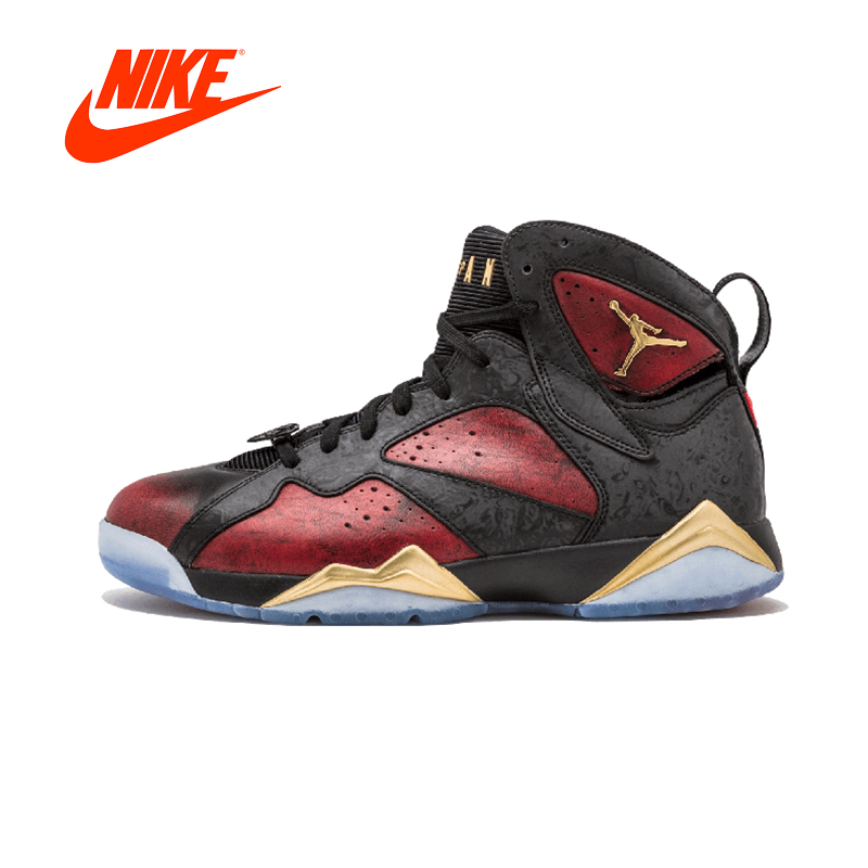 Оригинальный Новое поступление Аутентичные NIKE Air Jordan 7 Ретро дБ Doernbecher Мужская баскетбольная обувь кроссовки спорта на открытом воздухе