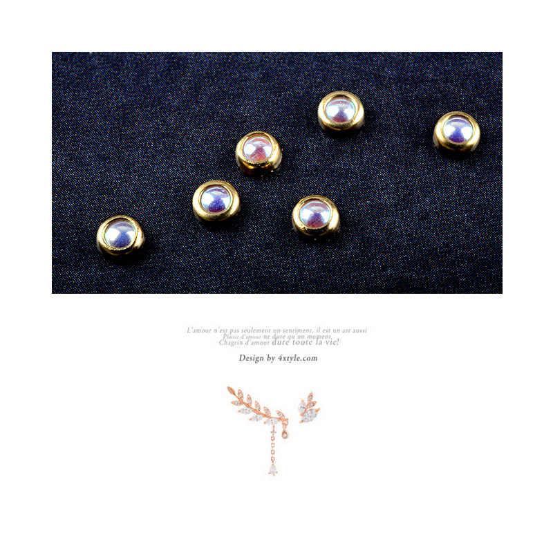 3d Glitter per Unghie Strass Avvolgimento Perle Ab Colorato 2 Millimetri 3 Millimetri Ruota Borchie in Metallo Oro di Bellezza Fai da Te Unghie Artistiche Decorazioni