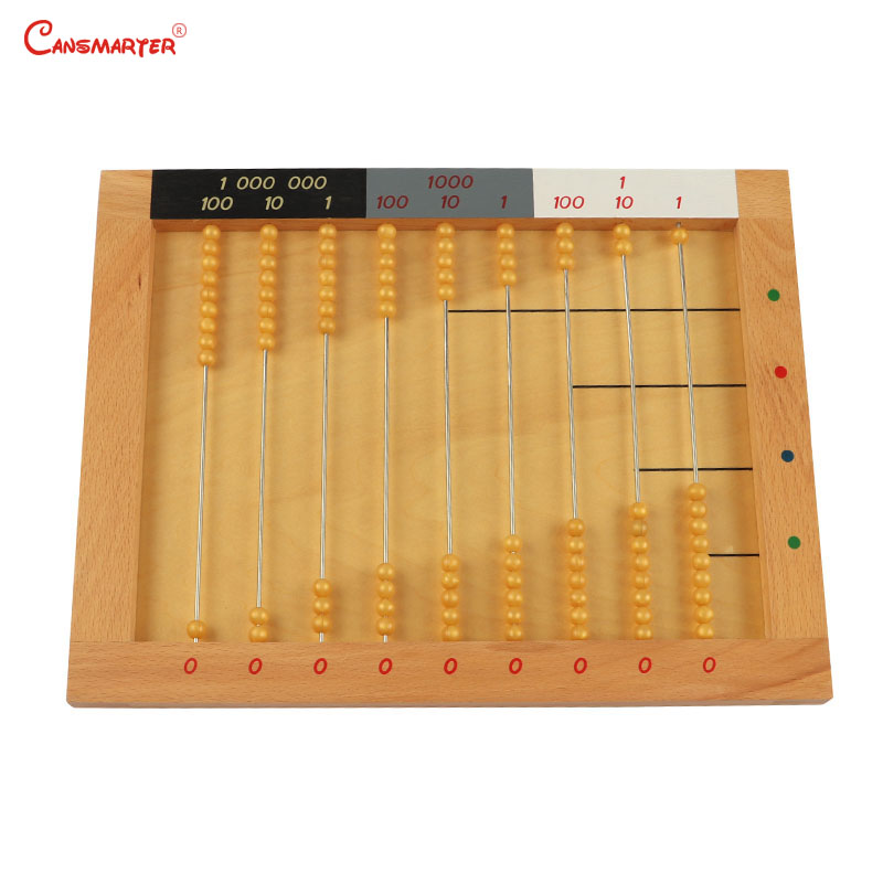 Educational Math Toys Wood Montessori Material Abacus Soroban Baby Teach Aids Math Toy Number Learn Children Games MA074 3 in Math Toys from Toys Hobbies