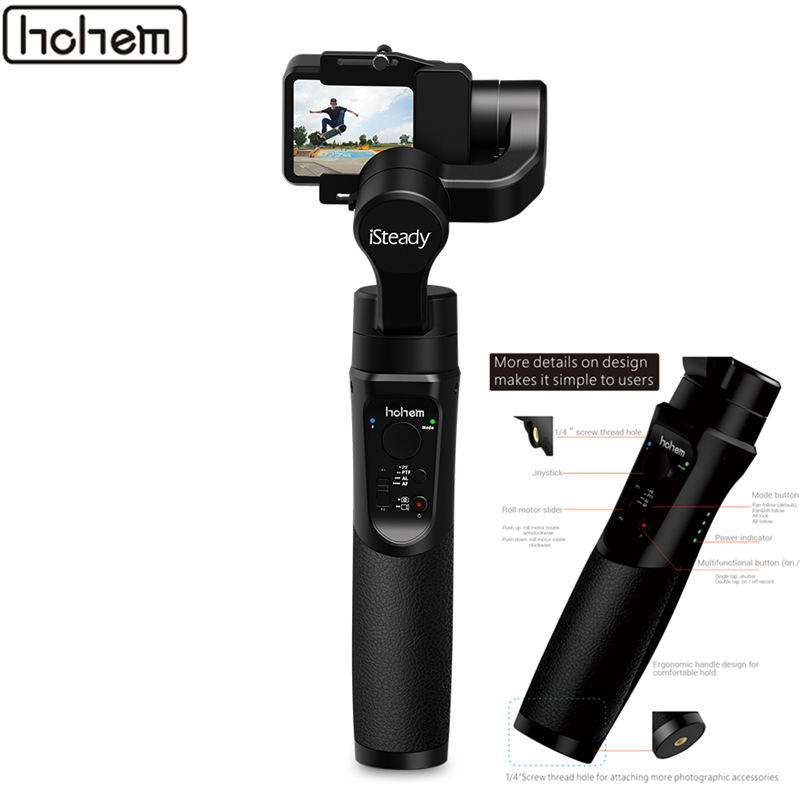 Hohem iSteady Pro 2 Camera Stabilizer Drie Axis Motion Handvat Gimbal Spatwaterdicht voor DJI OSMO GoPro Hero YI Action camera