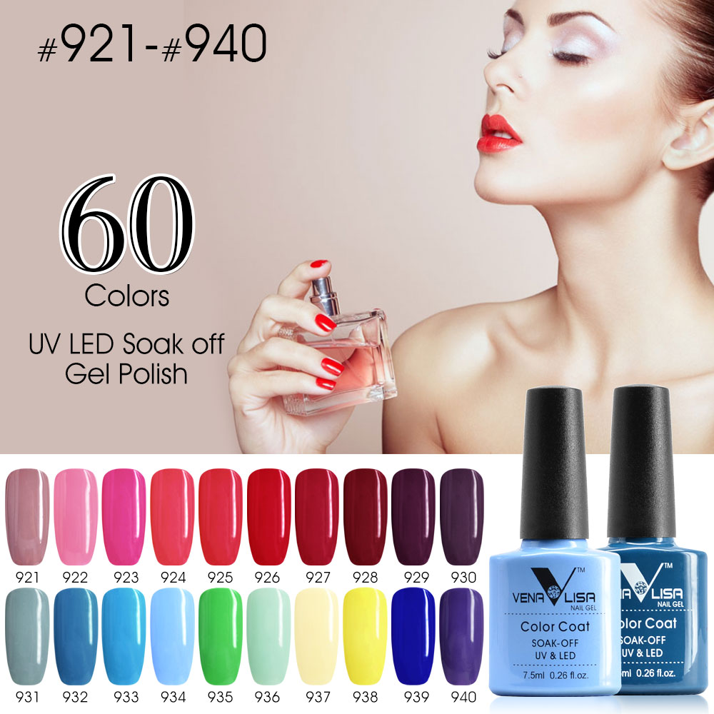 CANNI LED Gel Varnish Hot Sale Nail Art DIY Design 60 Colors 7.5ml 61508 Venalisa Soak off Organic Odourless UV Nail Gel Polish