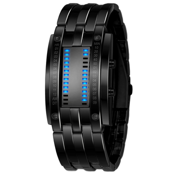 Luxury Electronic LED Blue Wrist Quartz Watches