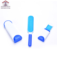 Pet Dog Cat Hair Remove Brush For Dog Bed Sofa Clothes Portable Cleaning Brush With Self Cleaning Base Double Side Brush FH001