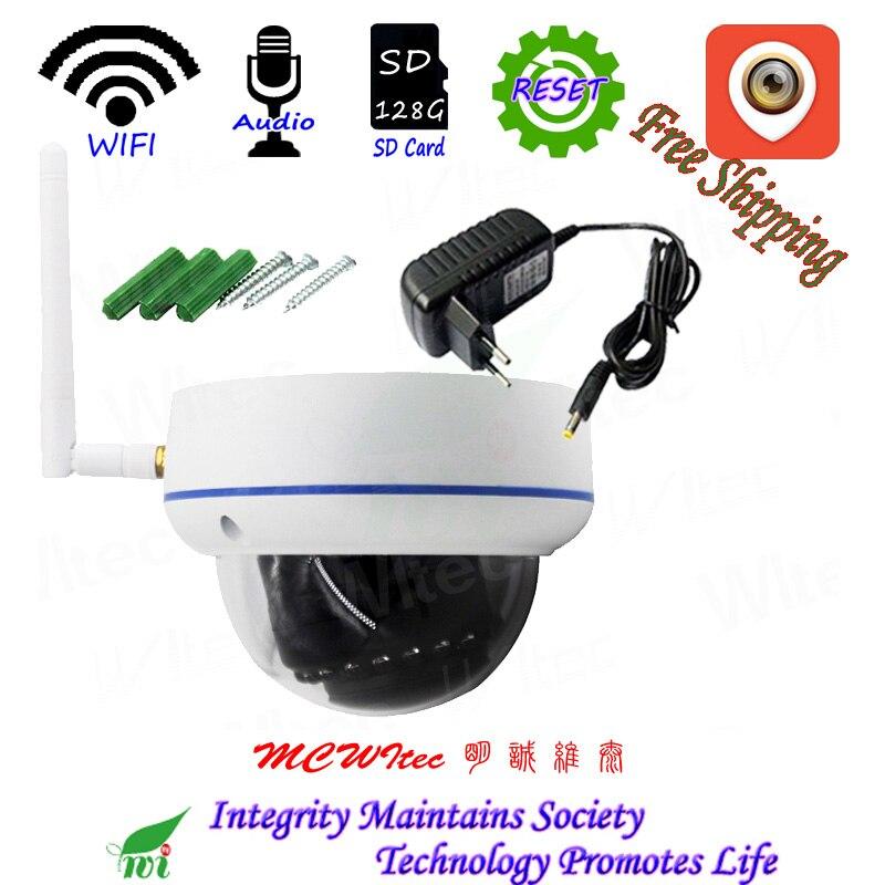 Audio XM WIFI 1080P IR dôme anti-vandalisme CCTV caméra Onvif 128G carte SD IP caméra alarme de mouvement P2P vue Mobile réinitialisation Audio IPC