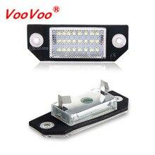 VooVoo 2 шт./компл. светодиодный Canbus номерной знак чисто белый 6000K для Ford Focus C-MAX MK2 03-08 автомобильная светодиодная лампа 24SMD