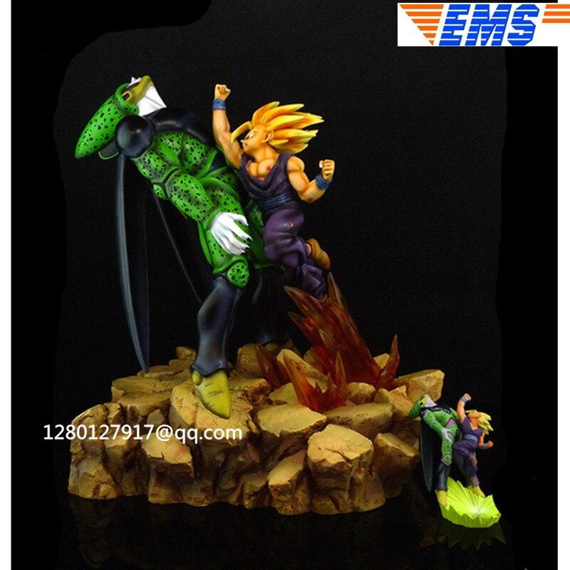 Statue Anime Dragon Ball Super Saiyan Son Gohan VS cellule demi-longueur Photo ou Portrait classique buste GK figurine jouet P1337
