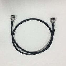 50ohm RG6 коаксиальный кабель черный 1 метр кабель N штекер Низкая потеря для подключения мобильного повторителя сигнала к сплиттеру