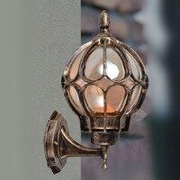 European wall lamp outdoor lights villa balcony garden lamps lighting retro iluminacion exterior applique murale luminaire
