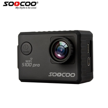 SOOCOO S100PRO 4K UHD Wifi Sports Camera Touch Screen Gyro with GPS Extension(GPS Model not include) Voice Control  Action Cam