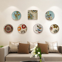 Modern creative ceramic mural hanging plate wall decoration crafts Furnishing personality hand painted hanging plates