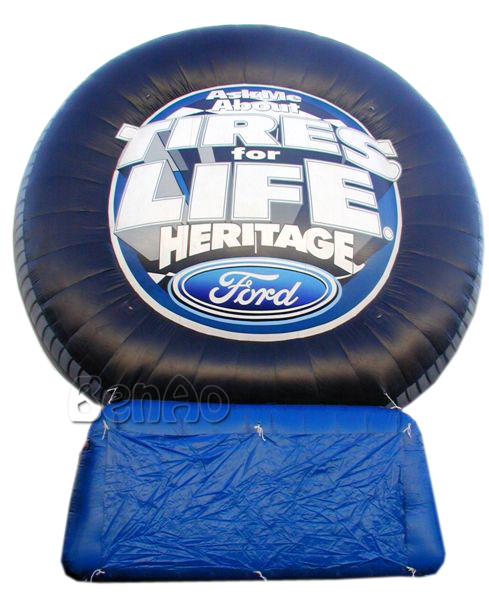 Z145 most popular advertising inflatable tire model, inflatable tire balloon to increase tire with air blower for sales