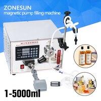 ZONESUN 2ml To Unlimited Magnetic Pump Micro Computer Liquid Filling Machine Accurate Automatic Filling Machine