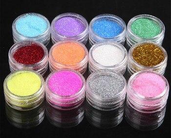 12 Colores Brillantina De Metal Para Polvo Acrílico De Uñas Punta 3d Herramientas De Manicura Decoración De Uñas Pigmentos Gel De Uñas Po 1002