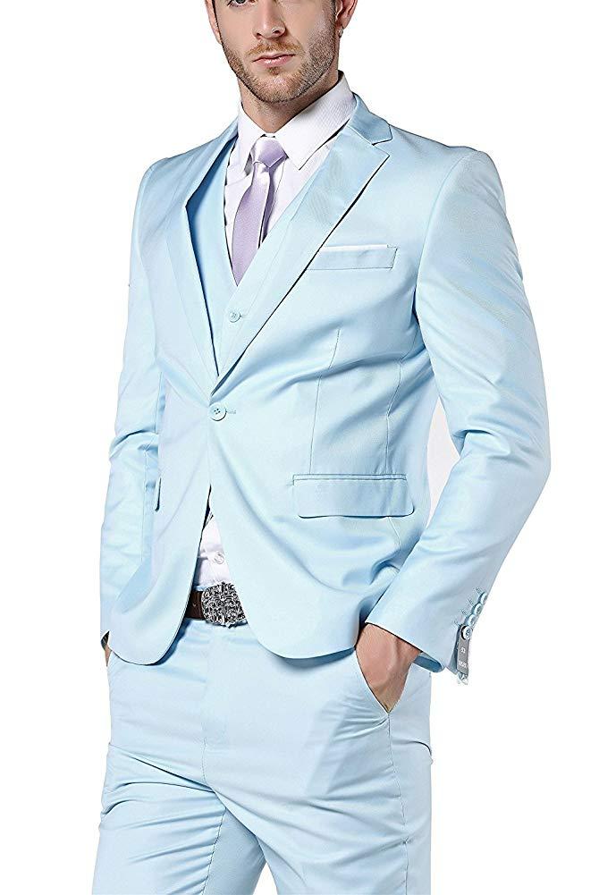 915f5a0211 Come Partito Grey Blue Pants Di Jacket Sposo Giacca Vest Dark Pezzi ...