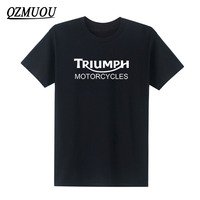 New Fashion Classic TRIUMPH MOTORCYCLE T Shirts Men Cotton Short Sleeve Good Quality T Shirt O